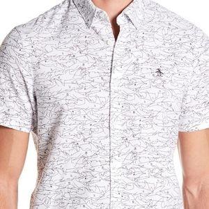 Original Penguin Short Sleeve Shark Shirt